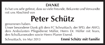 Zur Gedenkseite von Peter Schuetz